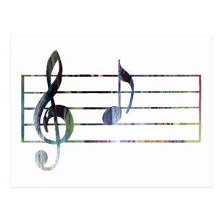 Una nota musical postales