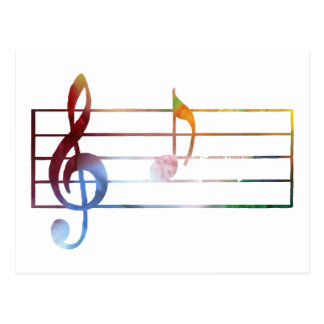 Una nota musical tarjetas postales