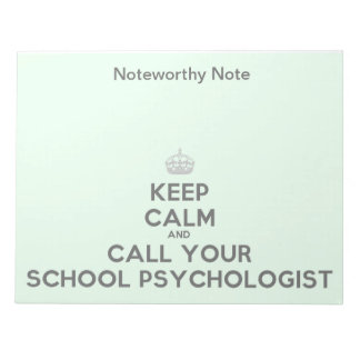 Una nota significativa del psicólogo de la escuela libretas para notas