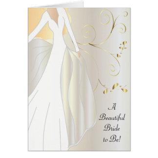 Una novia hermosa a ser tarjeta de la enhorabuena