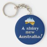 Una nueva Australia brillante Llavero Redondo Tipo Pin