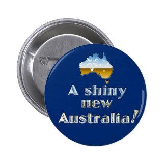 Una nueva Australia brillante Pin Redondo De 2 Pulgadas