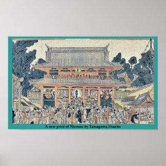 Una nueva impresión de Niomon por Tamagawa Shucho Poster