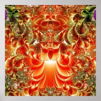 Una nueva impresión del arte de los amaneceres del póster