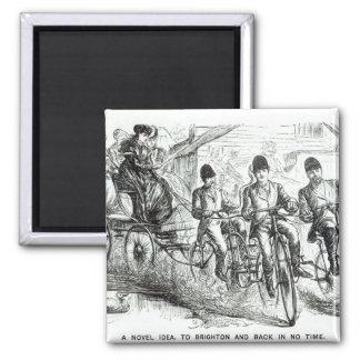 Una nueva manera de viajar a Brighton, 1864 Imán Cuadrado