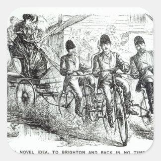 Una nueva manera de viajar a Brighton, 1864 Colcomanias Cuadradas