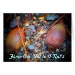 Una nuez a un Nut'r Tarjeton