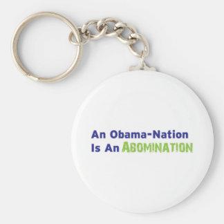 Una Obama-Nación es un aborrecimiento Llavero Redondo Tipo Pin
