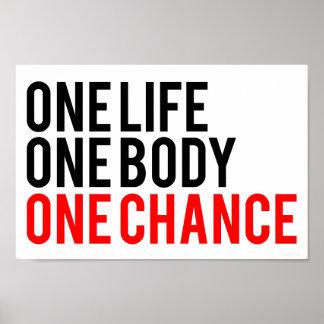 Una ocasión del cuerpo uno de la vida una póster