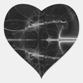 Una ojeada en espacio pegatina en forma de corazón