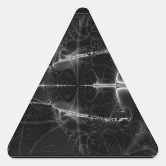 Una ojeada en espacio pegatina triangular