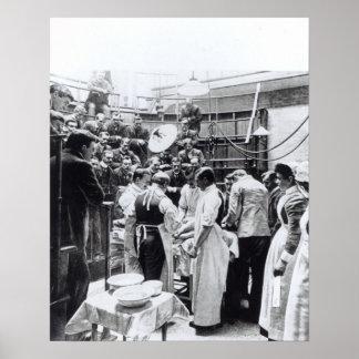 Una operación en el hospital cruzado de Charing Póster