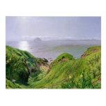 Una opinión Ailsa Craig y la isla de Arran, 1860 Tarjeta Postal