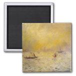Una opinión de Renoir de la niebla de Venecia Imán Cuadrado