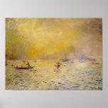 Una opinión de Renoir de la niebla de Venecia Posters