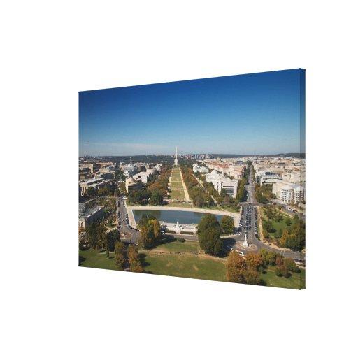 Una opinión del paisaje del Washington DC Impresión De Lienzo