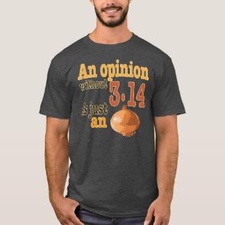 Una opinión sin 3,14 es apenas una cebolla playera