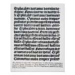 Una página del 'Grammaire Latine Póster