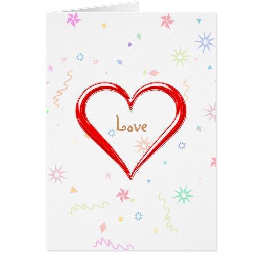 Una palabra: amor - plantilla de la tarjeta