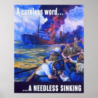 Una palabra descuidada… I hundimiento innecesario Poster