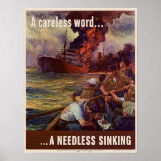 Una palabra descuidada… póster