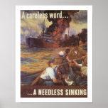 Una palabra descuidada… un hundimiento innecesario poster