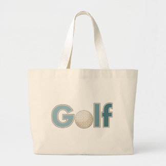 """""""Una palabra: Golf """" Bolsas Lienzo"""
