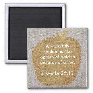 Una palabra hablada apto es como manzanas de los imán cuadrado