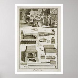 Una panadería y un equipo de la hornada, del 'Ency Póster