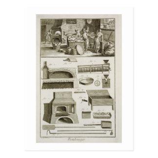 Una panadería y un equipo de la hornada, del 'Ency Tarjetas Postales