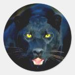 Una pantera negra etiquetas redondas