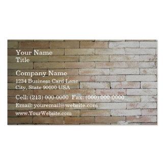 Una pared de ladrillo de color claro tarjetas de negocios