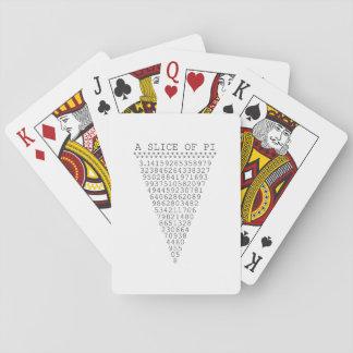 Una parte de los números del pi baraja de póquer