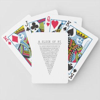 Una parte de los números del pi barajas de cartas