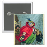 Una partera que va a un trabajo, 1811 pin cuadrada 5 cm