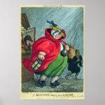 Una partera que va a un trabajo, 1811 póster