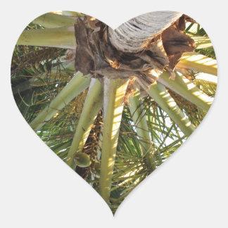 Una partida tropical pegatina en forma de corazón
