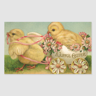 Una Pascua alegre Pegatina Rectangular
