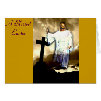Una Pascua bendecida Tarjeta De Felicitación