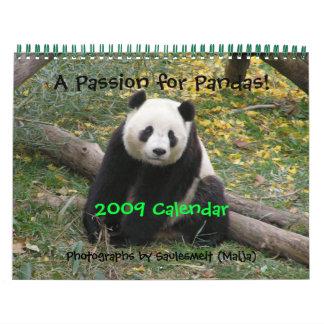 ¡Una pasión para las pandas! , Calend 2009… - Calendarios De Pared