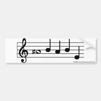 Una pegatina para el parachoques AGUDA de las nota Pegatina De Parachoque