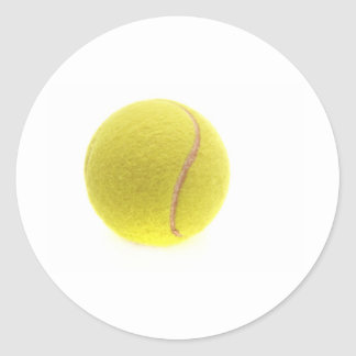 Una pelota de tenis etiquetas redondas