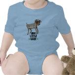Una pequeña cabra traje de bebé