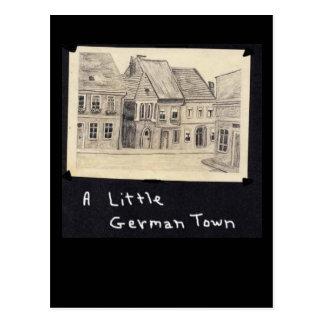 Una pequeña ciudad alemana tarjetas postales