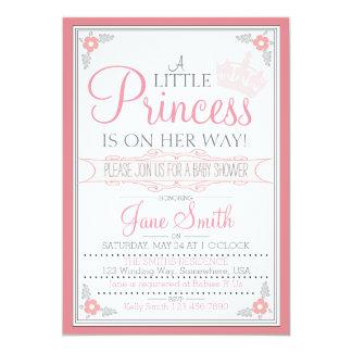 """Una pequeña princesa Is On Her Way Invitación 5"""" X 7"""""""