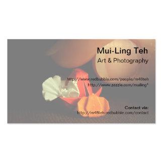 Una pequeña tarjeta de comercio de la acción de gr plantilla de tarjeta personal