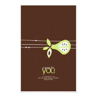 Una pera para usted envolturas de caramelo papeleria de diseño