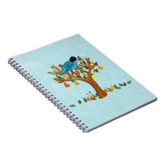 Una perdiz en cuadernos espirales de un peral