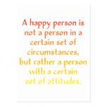 Una persona feliz no es una persona en cierto sist postal