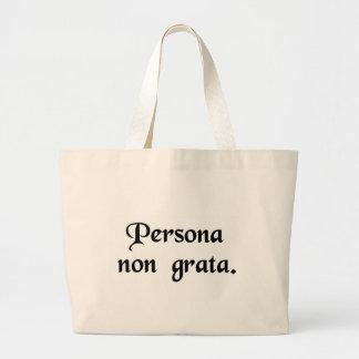 Una persona incómoda bolsa de mano